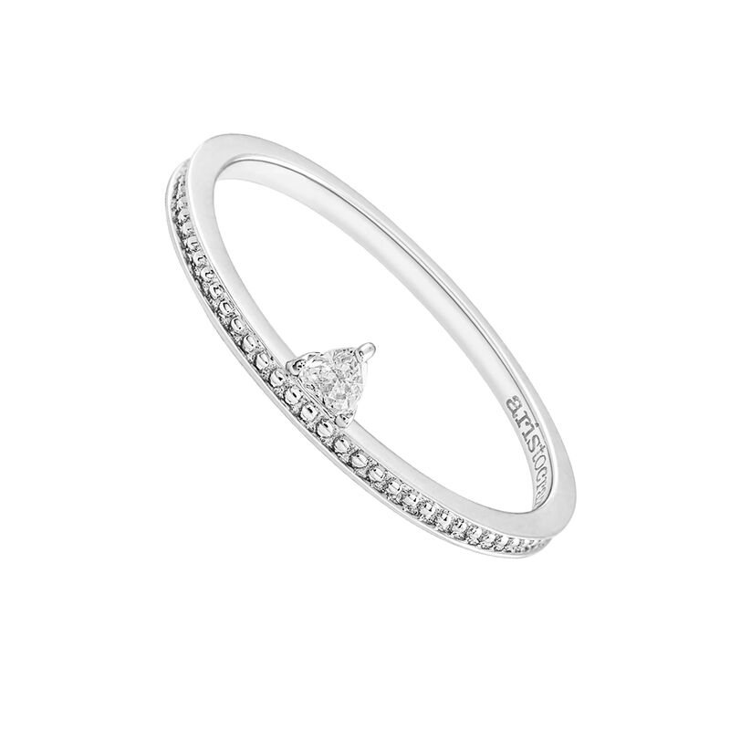 Gold triangle diamond ring 0.07 ct, J03347-01, hi-res