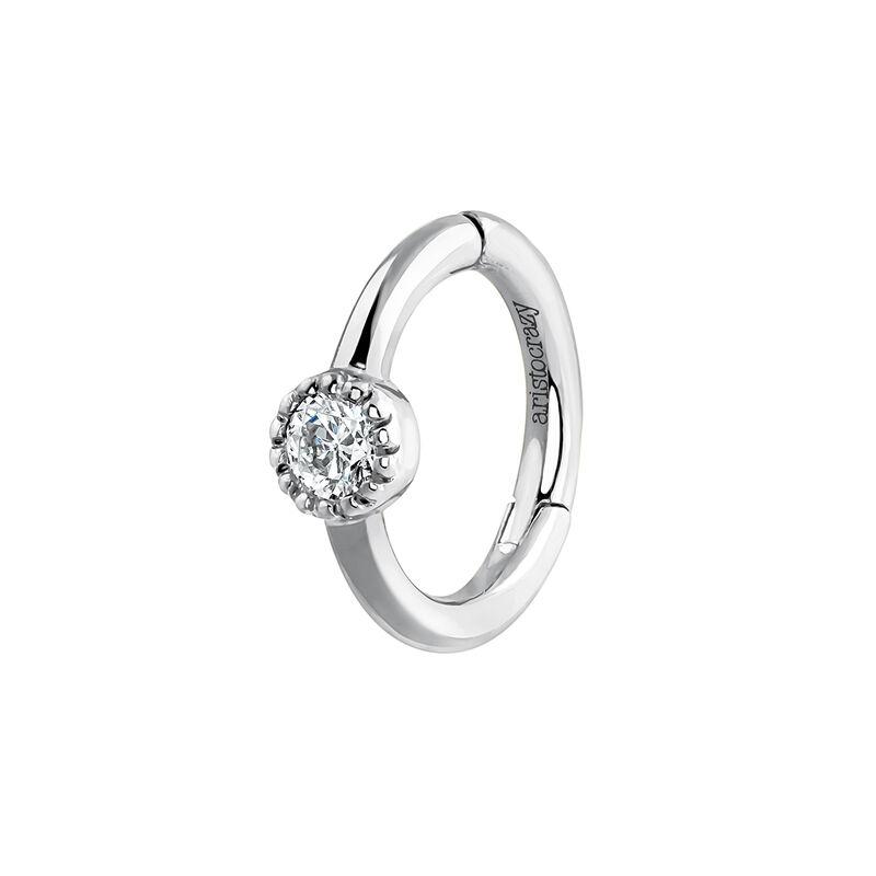 White gold diamond piercing ring 0.014 ct, J03909-01-H, hi-res
