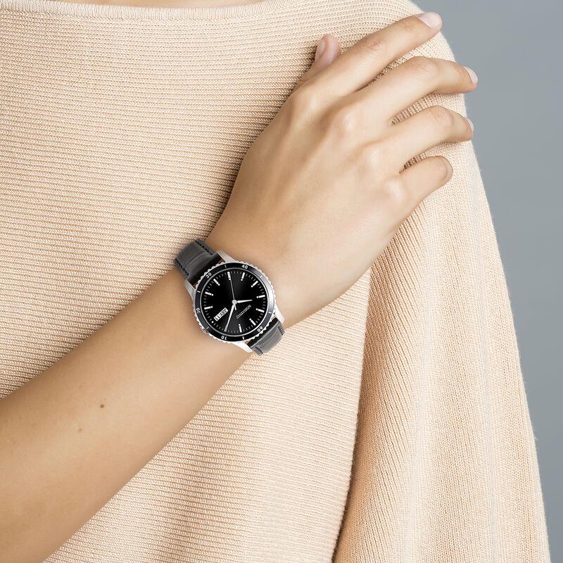 Shibuya watch strap black face, W43A-STBLBL-LEBL, hi-res