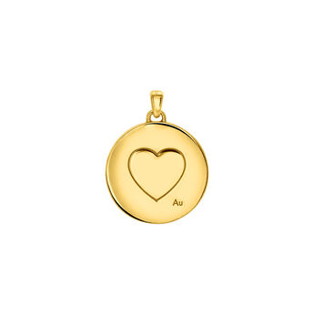 Gold Cupid Pendant, J03524-02, hi-res