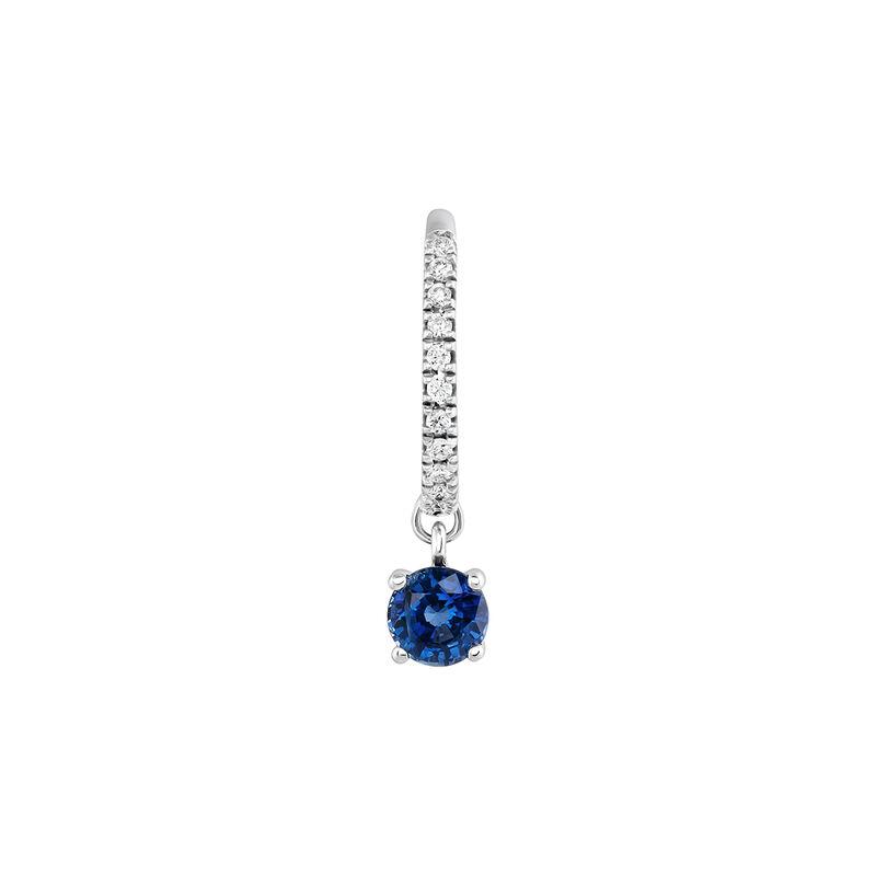 Pendiente aro zafiro diamantes oro blanco, J04075-01-BS-H, hi-res