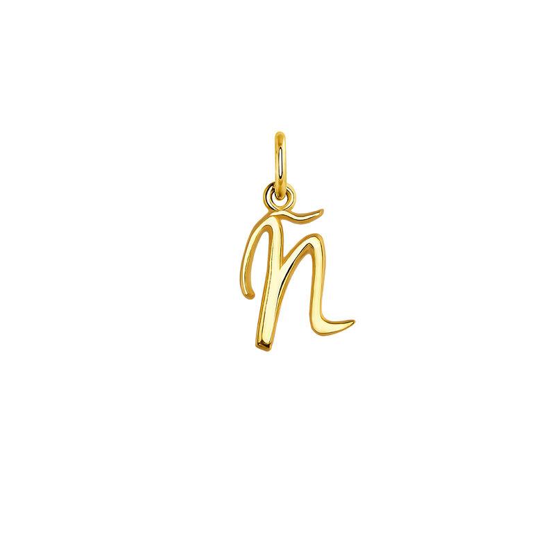 Gold-plated silver Ñ initial charm, J03932-02-Ñ, hi-res