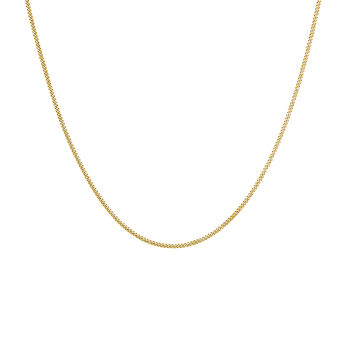 Gold plated curb chain, J04610-02, hi-res