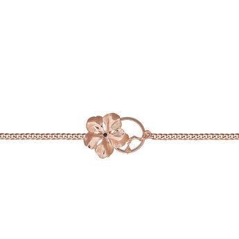 Rose gold flower necklace, J03430-03-BS, hi-res