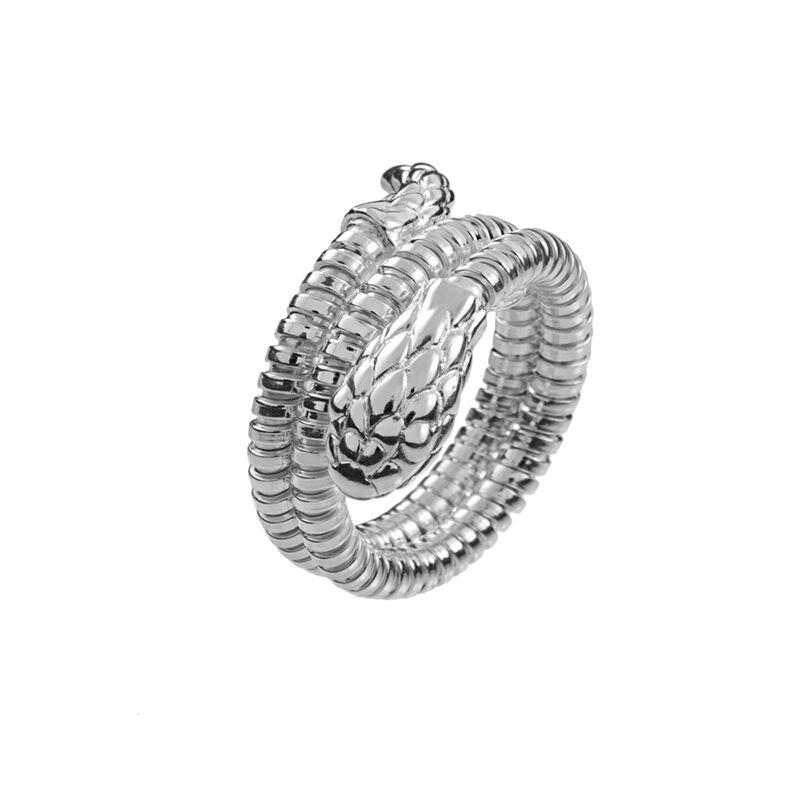 Silver tubogas snake ring , J00748-01, hi-res