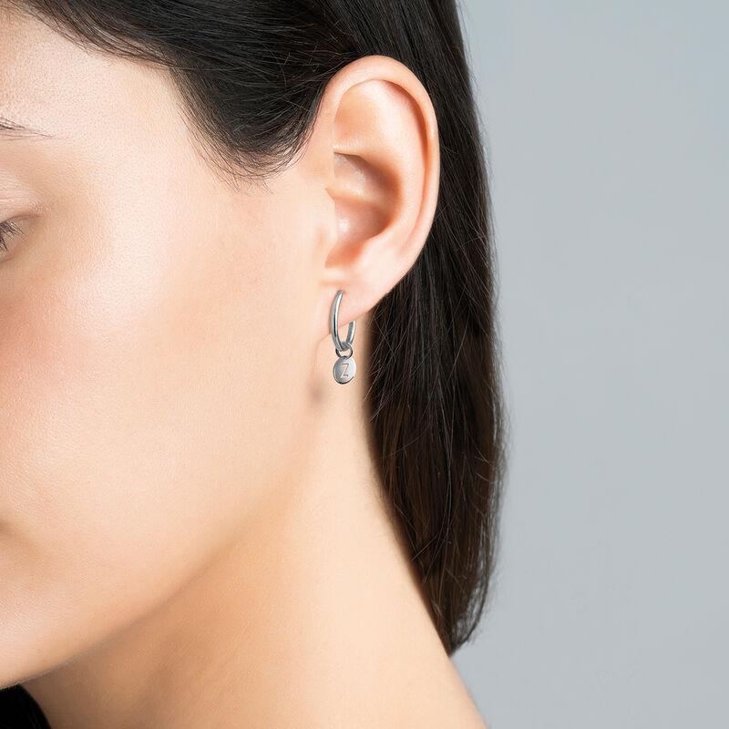 Silver Z letter necklace, J03455-01-Z, hi-res