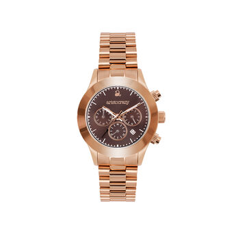 Soho watch rose gold bracelet brown face., W29A-PKPKBR-AXPK, hi-res