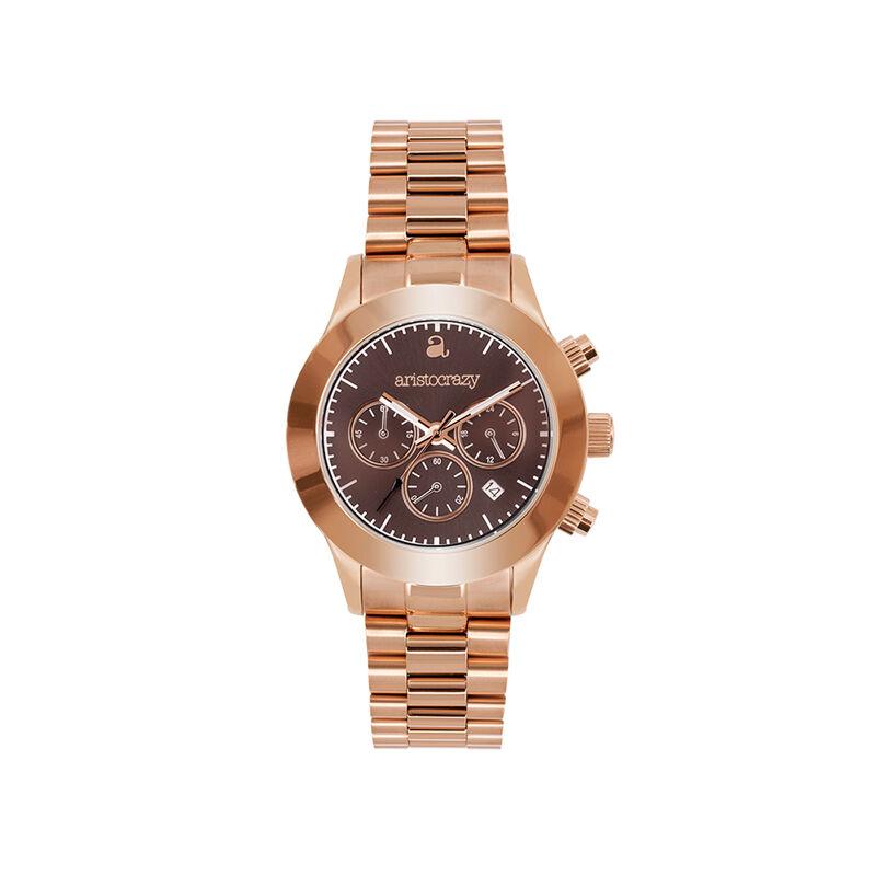 Soho watch rose gold bracelet brown face., W29A-PKPKBR-AXPK, hi-res