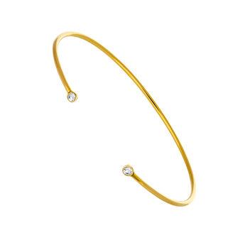 Gold topaz open bracelet, J03691-02-WT, hi-res