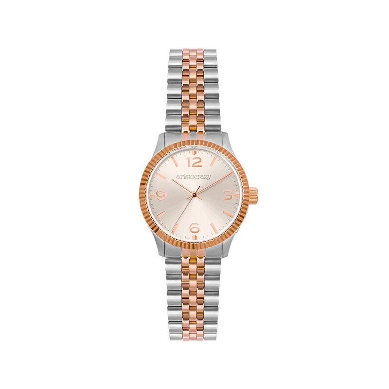 St. Barth Mini watch two-tone bracelet with grey face, W30A-STPKGR-AXMX, hi-res