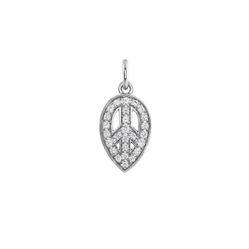 Colgante símbolo de la paz plata, J03823-01-WT, hi-res