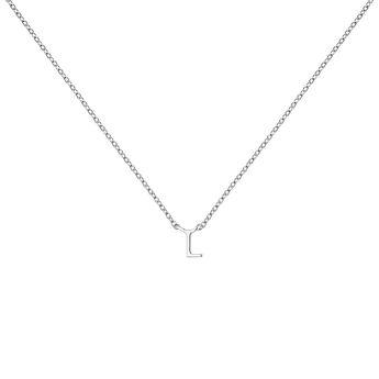 Collar inicial L oro blanco, J04382-01-L, hi-res