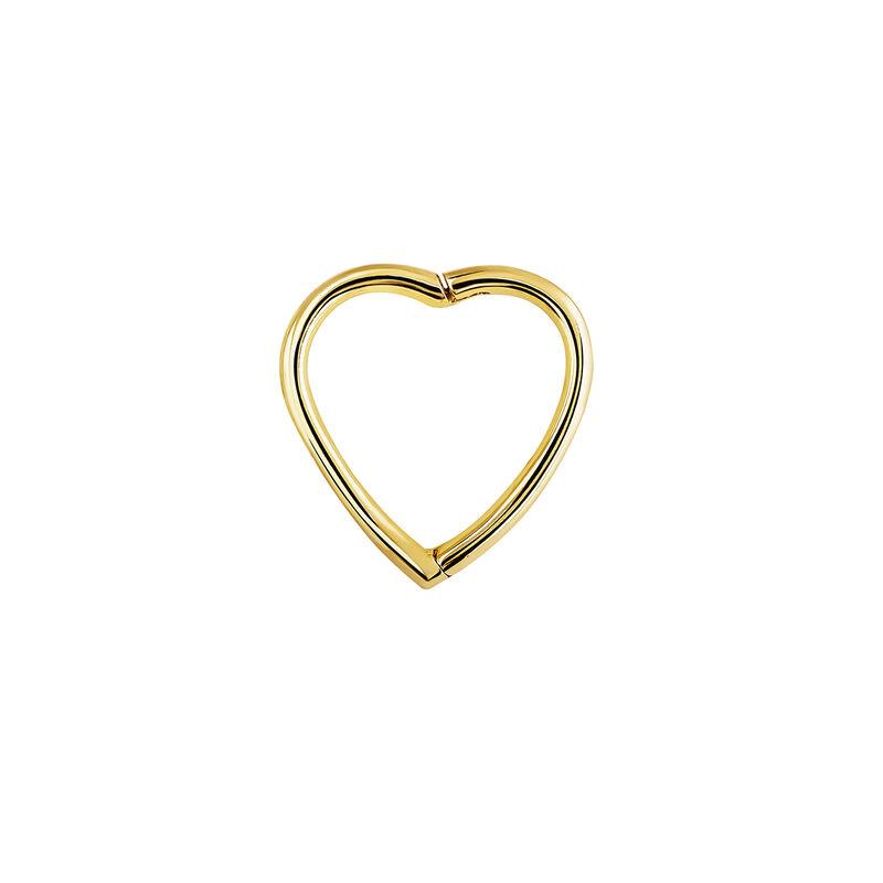 Piercing aro corazón oro, J04344-02-H, hi-res