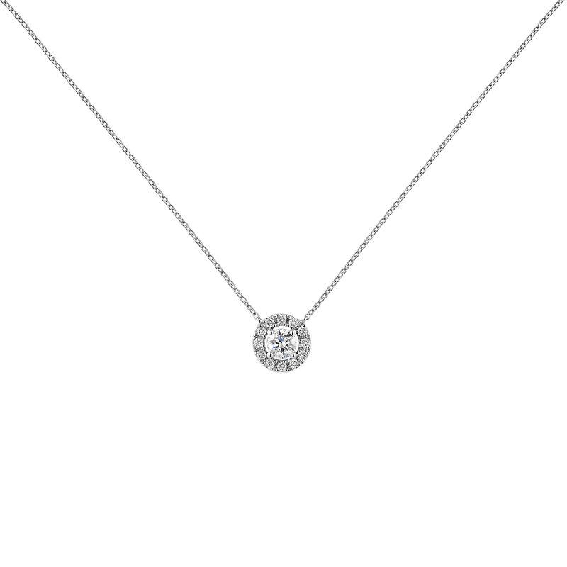 White gold necklace edging diamond 0,20 ct, J04221-01-20-06, hi-res