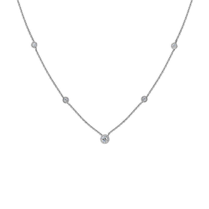 9kt white gold five diamond necklace, J04504-01, hi-res