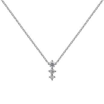 Colgante triple diamante 0,06 ctoro blanco, J03365-01, hi-res