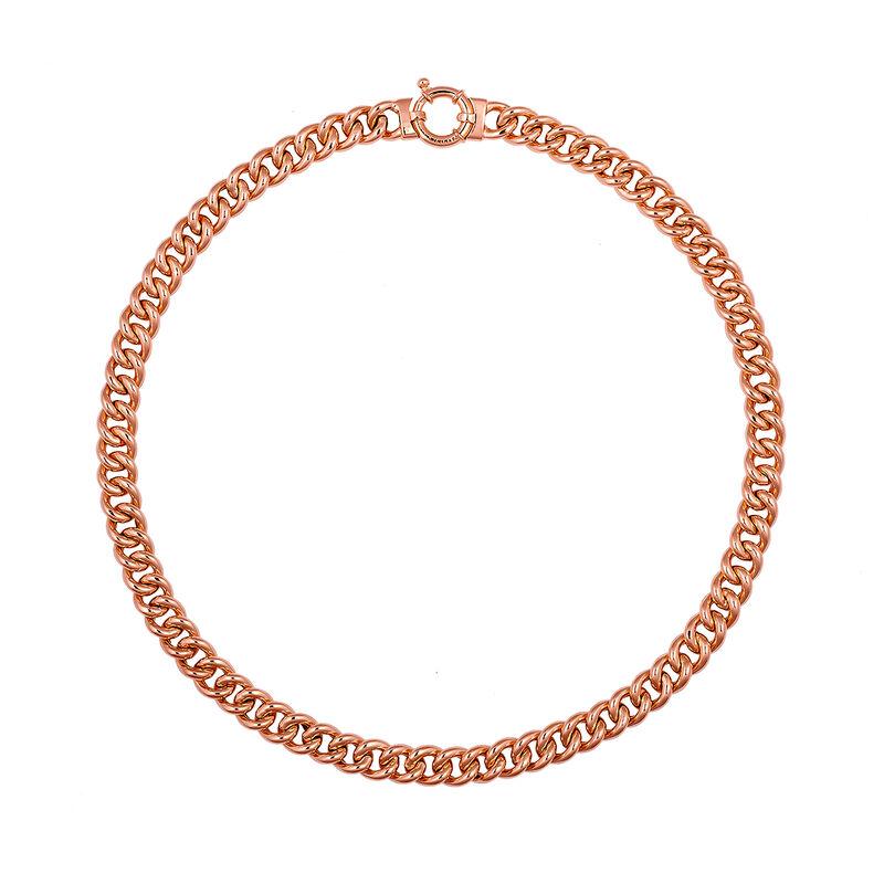 Collar mini roló eslabón oro rosa, J01917-03-45, hi-res