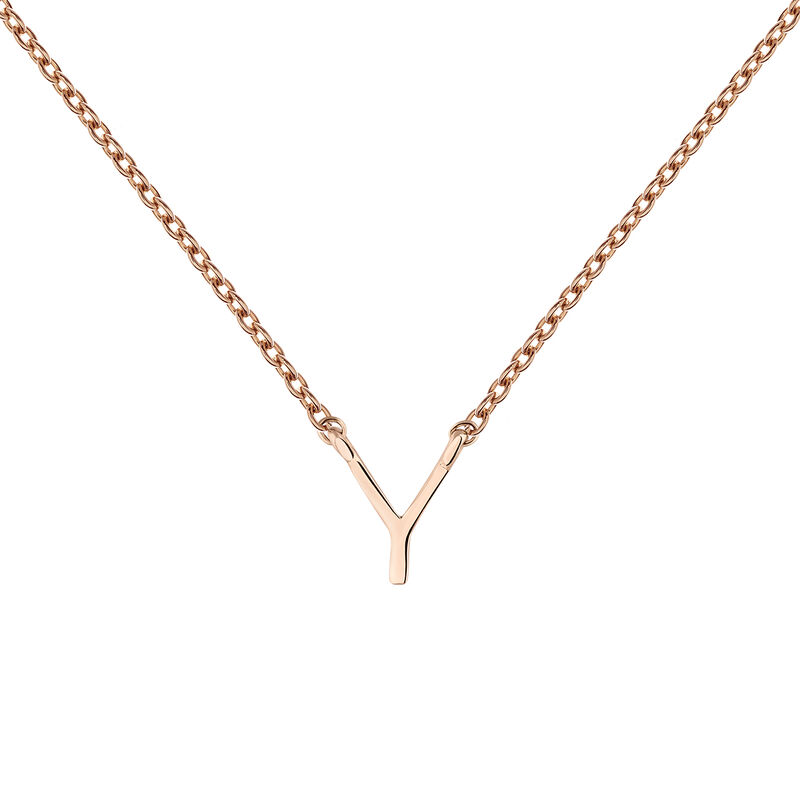 Collier initiale Y or rose, J04382-03-Y, hi-res