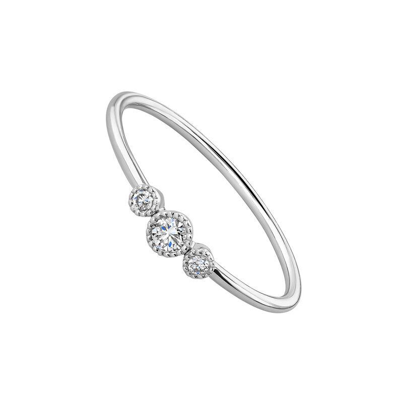 Anillo tres diamantes oro blanco 9kt, J04498-01, hi-res