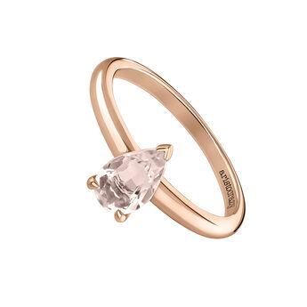 Bague pierre taillée poire or rose, J03819-03-PQ, hi-res