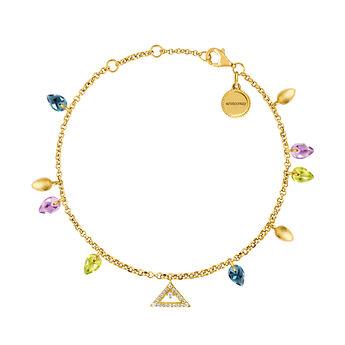 Gold Stone Geometric Bracelet, J03549-02-PEAMLB, hi-res