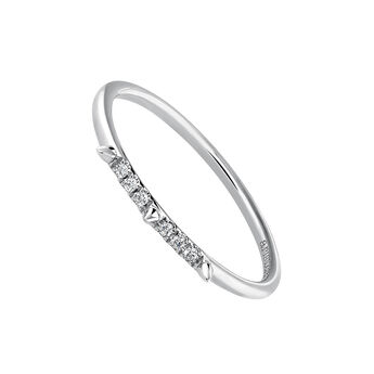 Bague pointes et diamants or blanc 0,03 ct, J03879-01, hi-res