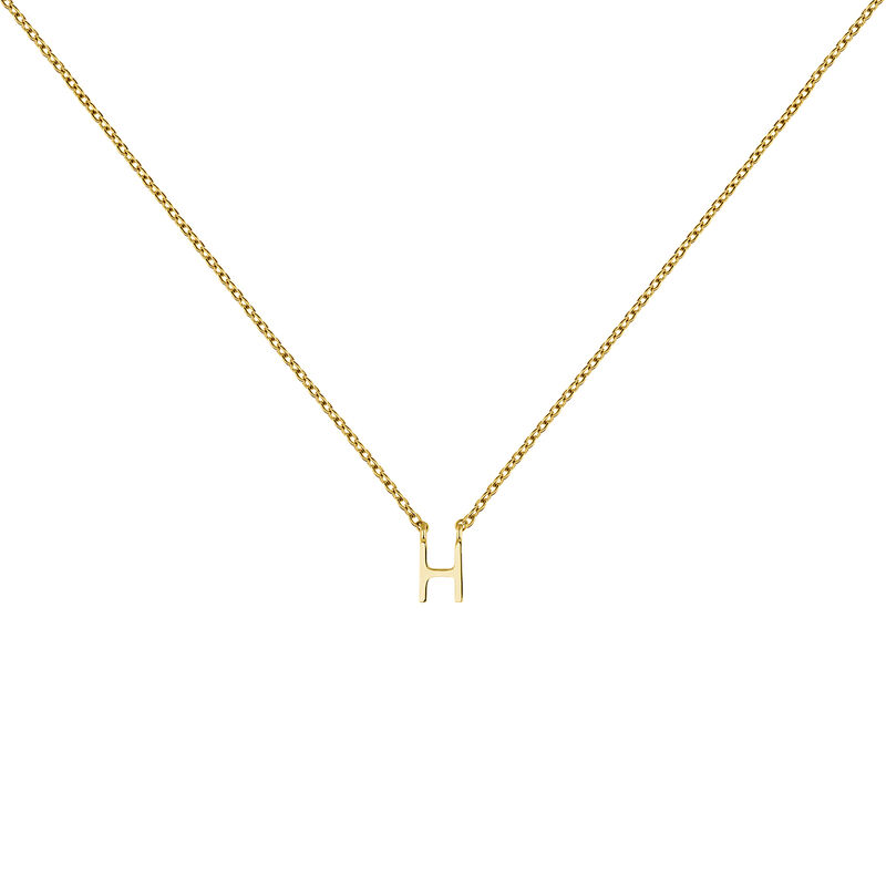 Collier initiale H or, J04382-02-H, hi-res