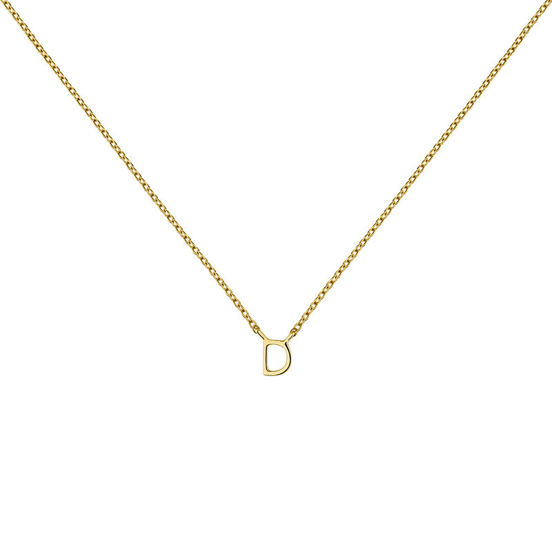 Collier initiale D or, J04382-02-D, hi-res