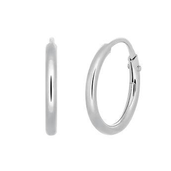 Silver hoop earrings, J03467-01-PQ, hi-res