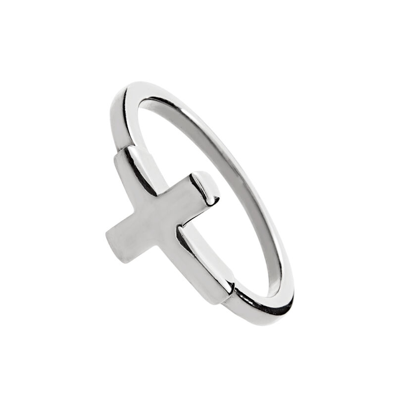Silver cross ring, J00861-01, hi-res