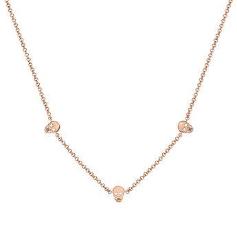 Rose gold necklace with skulls, J03943-03, hi-res