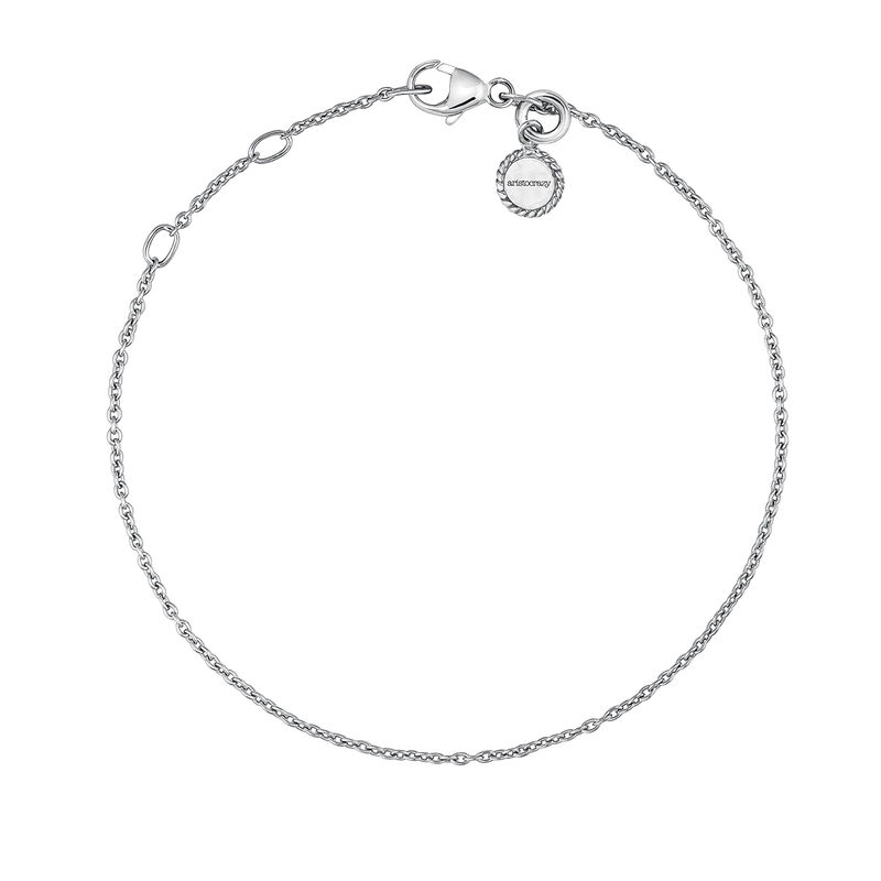 Silver simple bracelet, J03436-01, hi-res