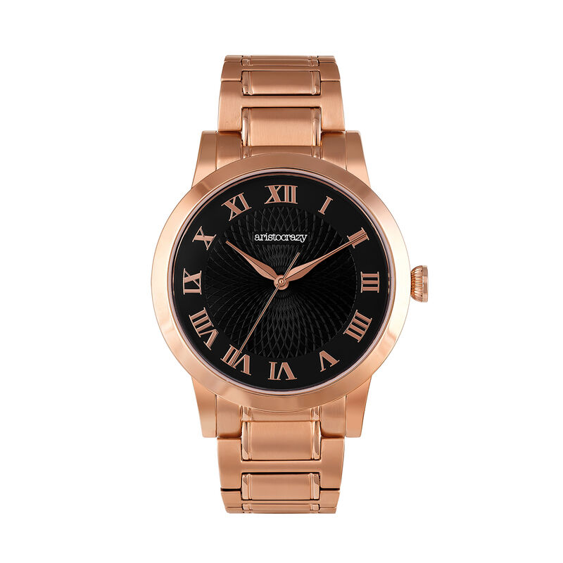 Reloj Brera armis oro rosa esfera negra, W44A-PKPKBL-AXPK, hi-res