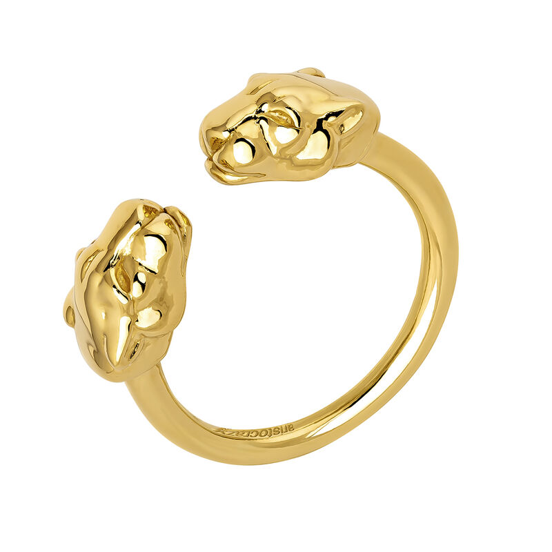 Gold panther ring, J04193-02, hi-res