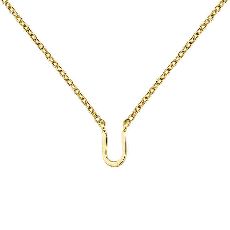 Collier initiale U or, J04382-02-U, hi-res