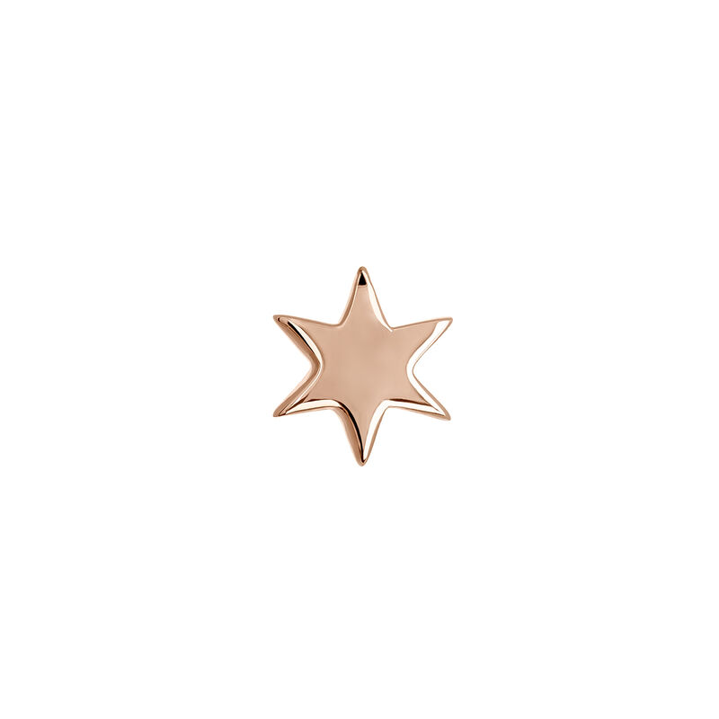 Rose gold star earring piercing, J03834-03-H, hi-res