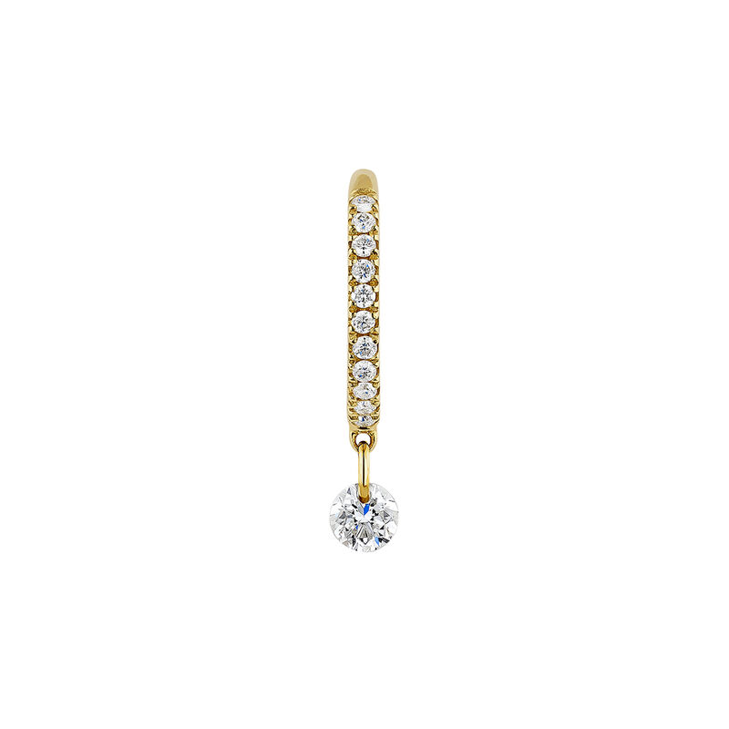 Pendiente aro diamantes 0,124 ct oro, J04424-02-H, hi-res