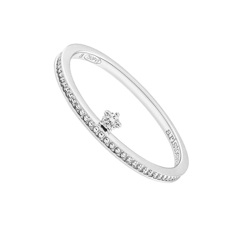 Simple gold ring with diamonds 0.03 ct, J03342-01, hi-res