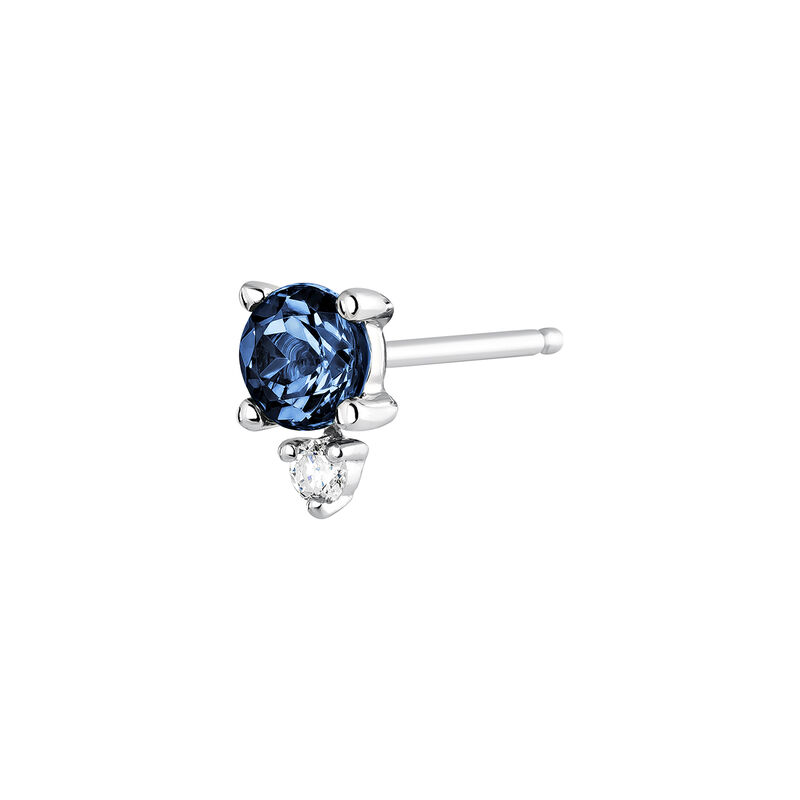 Earring sapphire and diamond white gold, J04073-01-BS-H, hi-res