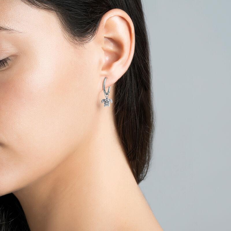 Silver tortoise necklace, J03444-01, hi-res
