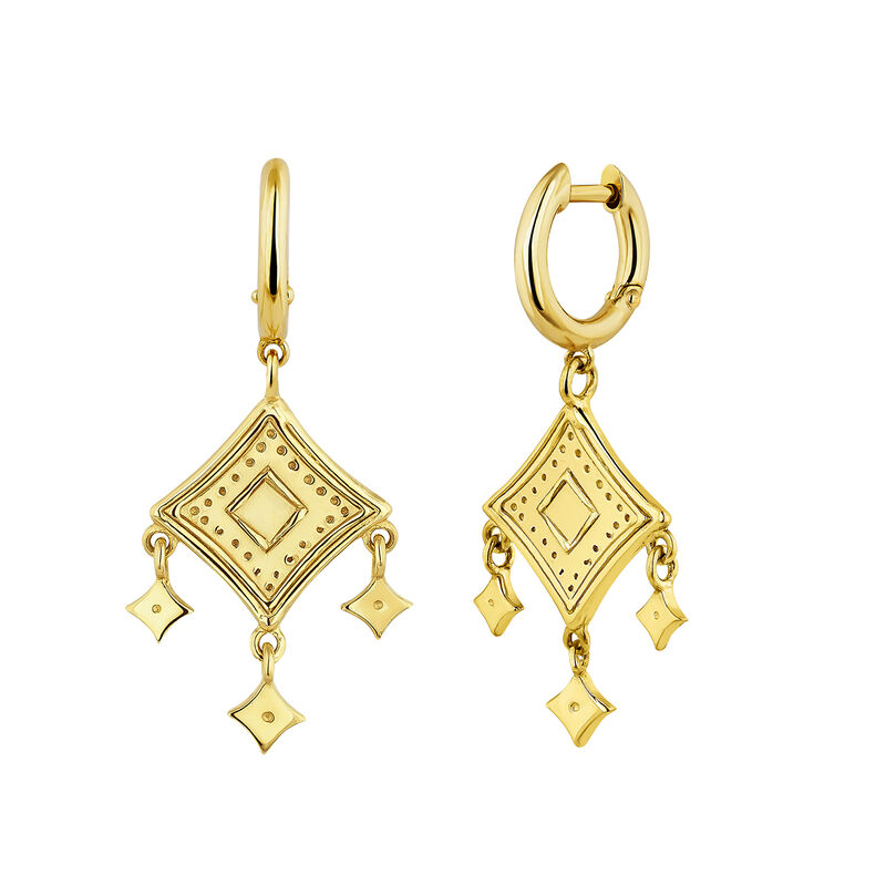 Gold plated mobile motifs ethnic earrings, J04440-02, hi-res