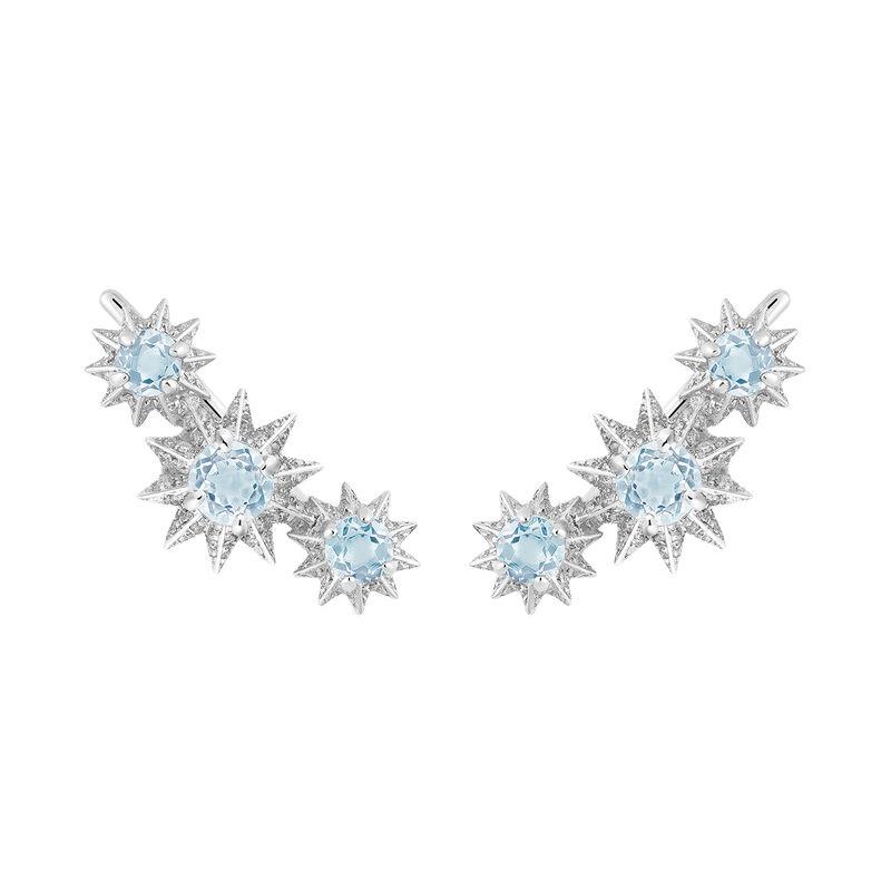 Pendientes trepador topacio azul diamantesplata, J03306-01-SKY-SP, hi-res