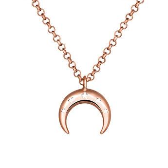 Colgante luna oro plata recubierta rosa, J03461-03, hi-res