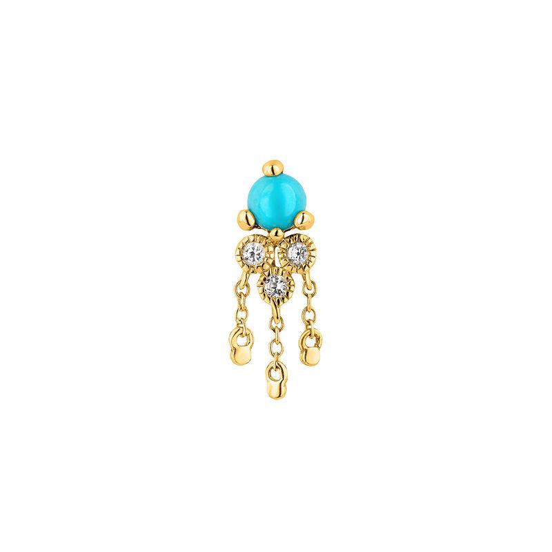 9kt gold stone earring