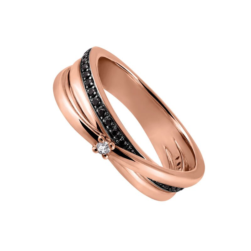 Rose gold topaz mini spinels ring, J03350-03-BSN-WT, hi-res