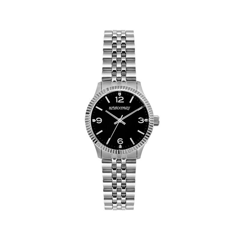 St. Barth watch steel black face, W30A-STSTBL-AXST, hi-res