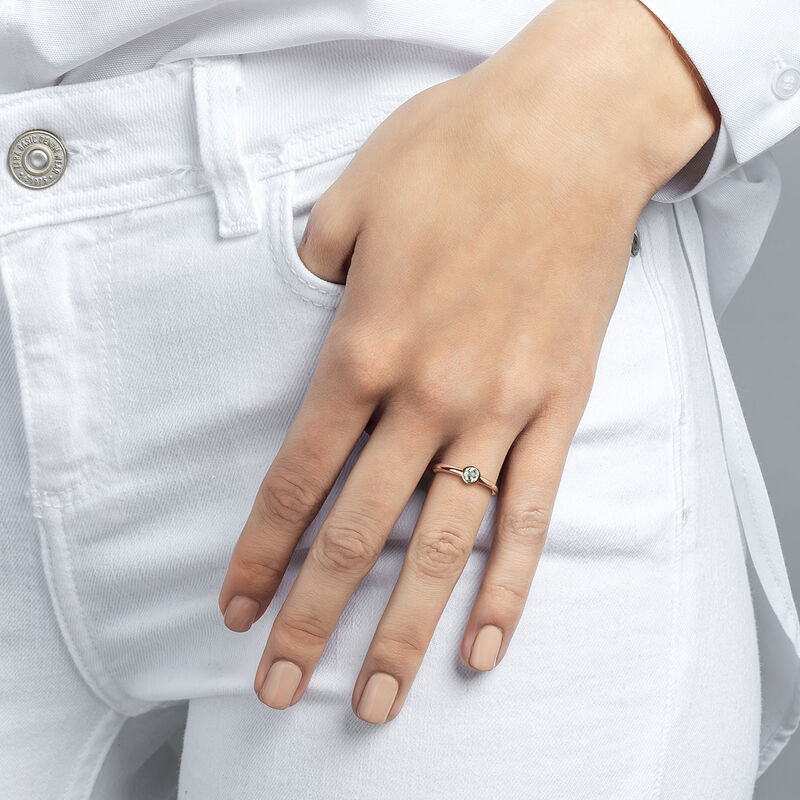Small round rose gold plated stone ring, J03815-03-GQ, hi-res