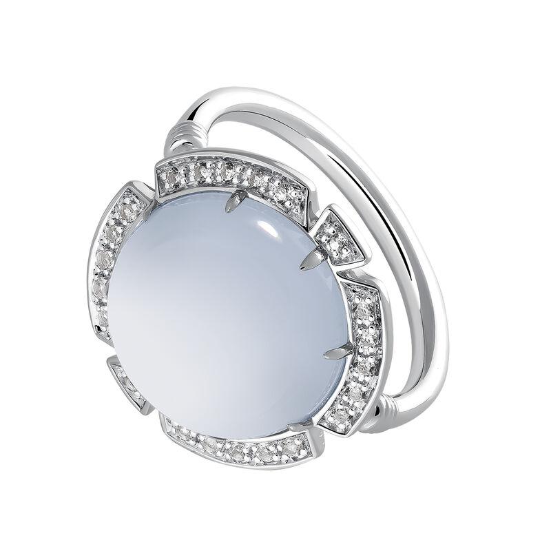 Maxi silver stone ring, J03500-01-BCWT, hi-res