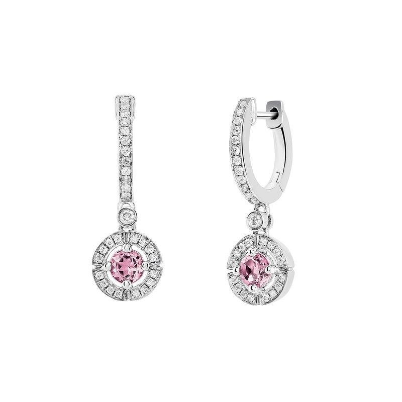 Pendientes aro turmalina rosa plata, J03769-01-PTU, hi-res