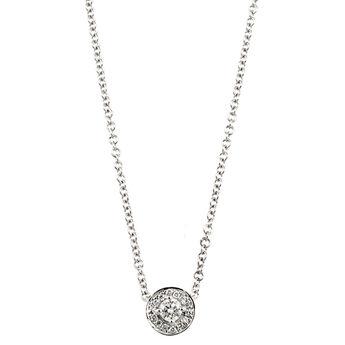 Collier bordure diamants or blanc 0,10, J00183-01-10-GVS, hi-res